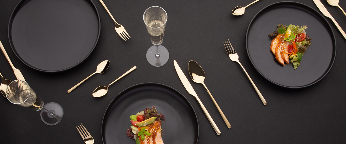 Dining in the colour of champagne