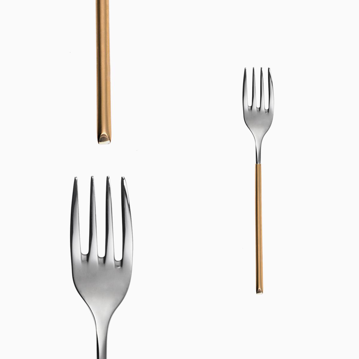 Dessert fork - Avantgarde gold