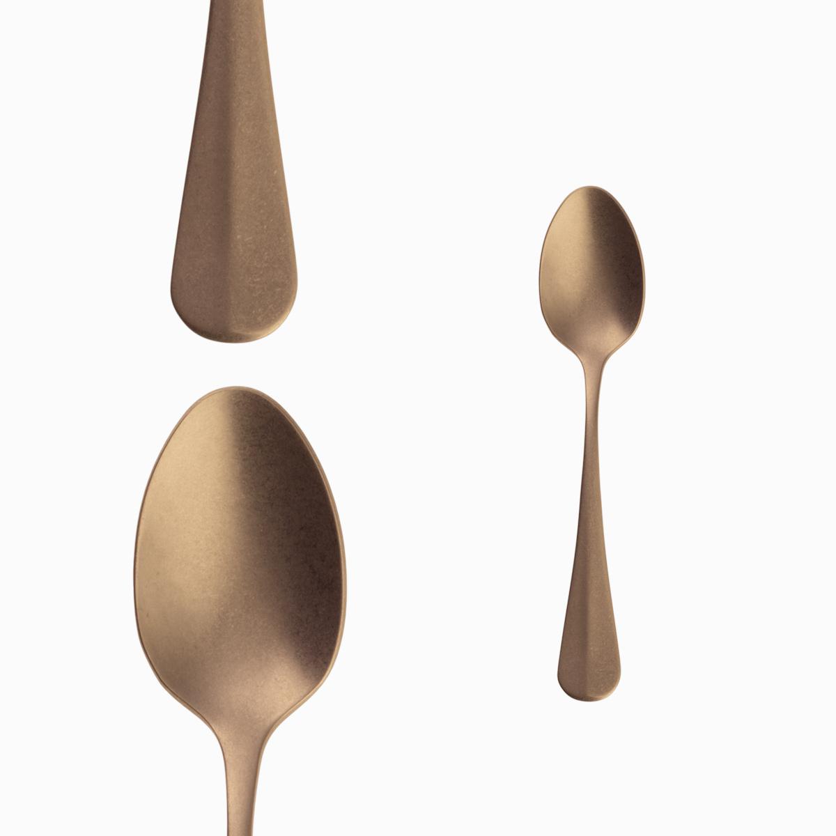 Coffee Spoon - Baguette Vintage Gold
