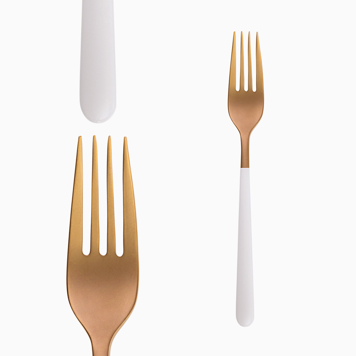 Table Fork - Faro Rose / White