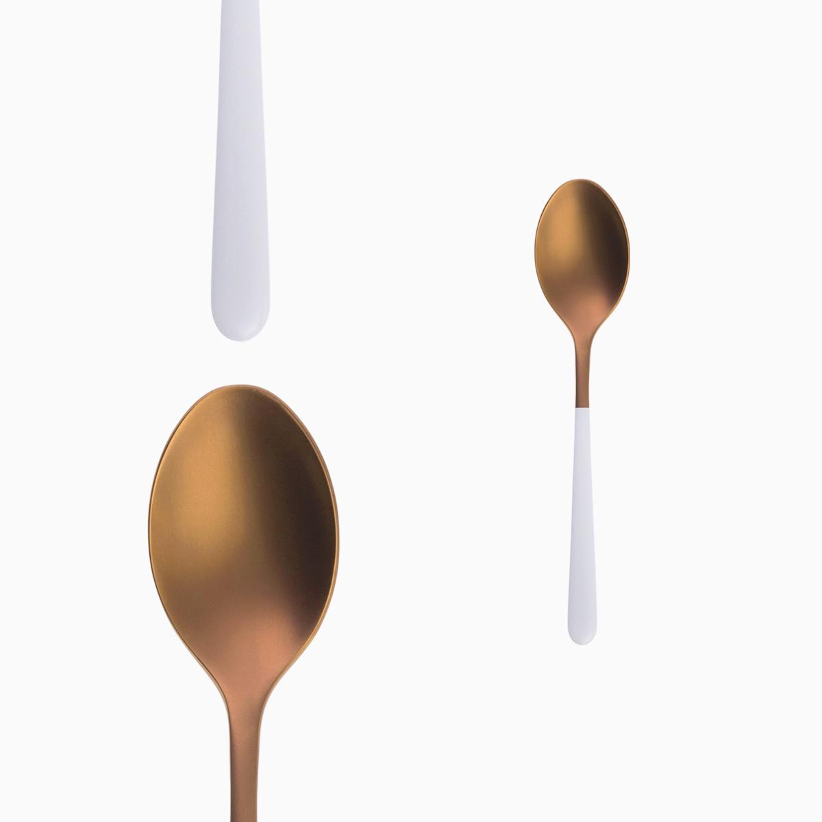 Coffee Spoon - Faro Rose / White