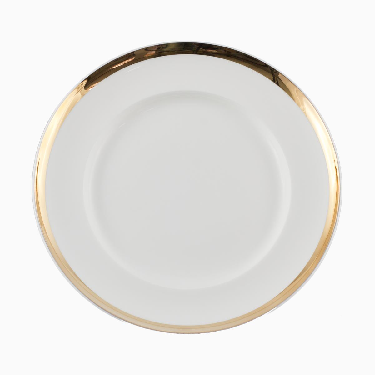 Plate Flat with gold filet