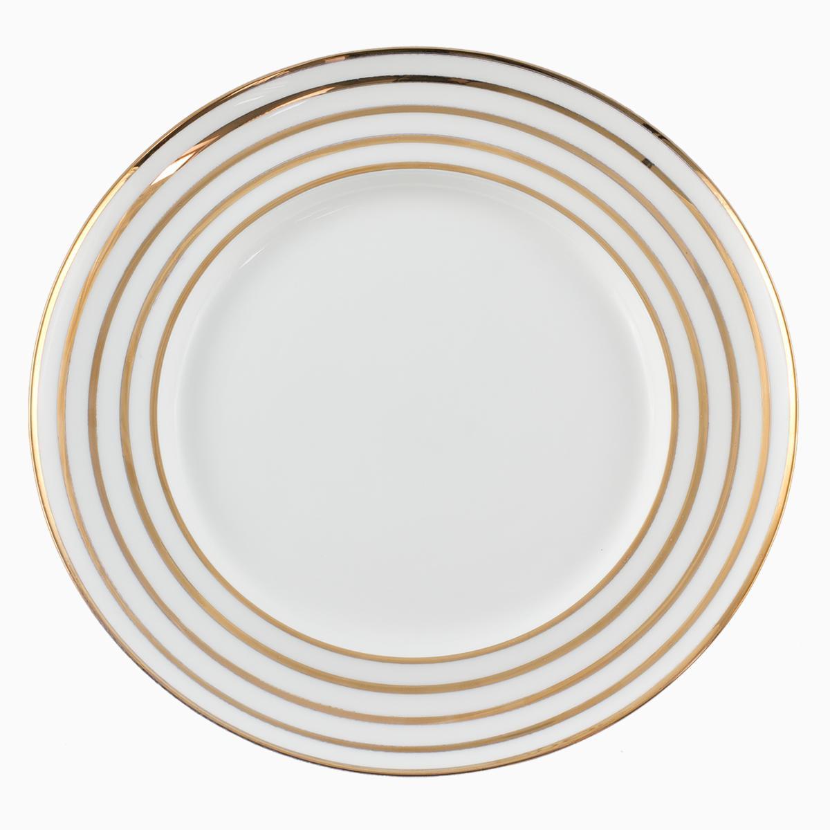 Plytký tanier s motívom prúžkov