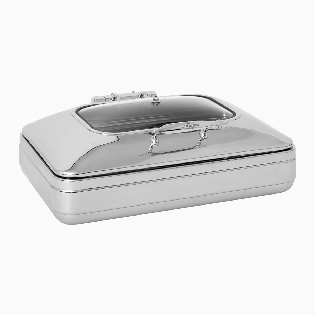 Chafing dish with window lid