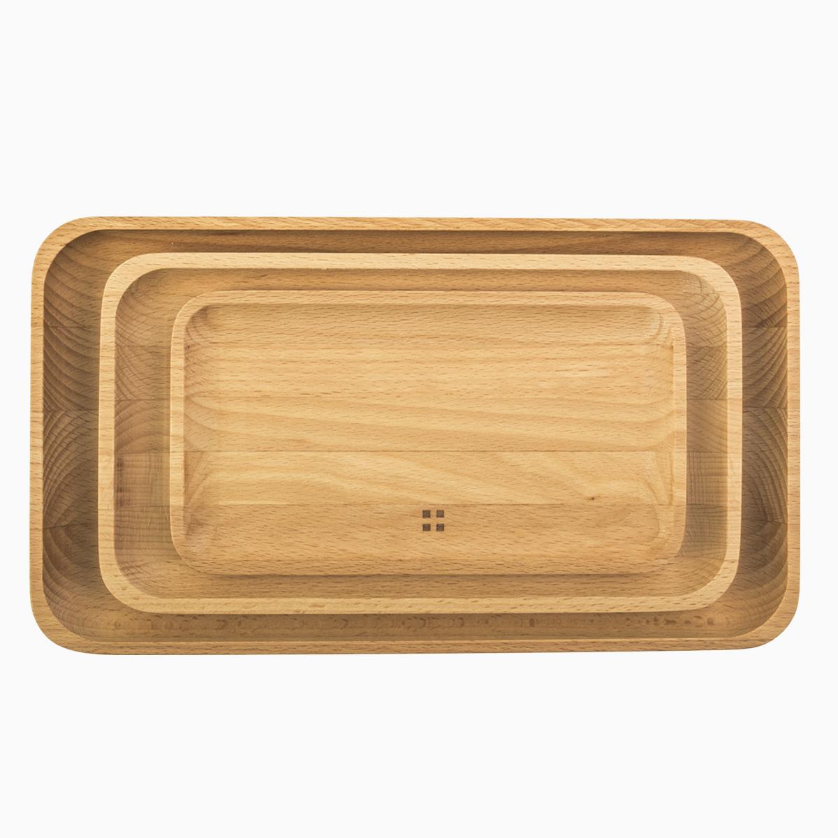 Wooden Tray 3-pcs set