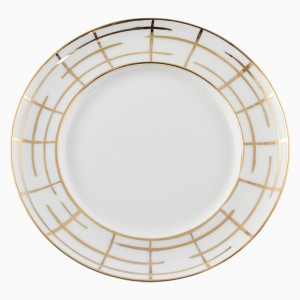 Plate Flat grid decor
