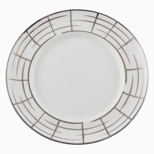 Plytký tanier s mriežkovaným motívom