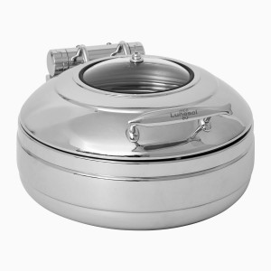 Chafing dish round with window lid