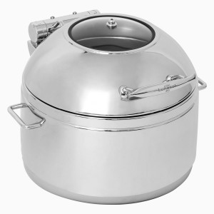 Chafing dish round for soup with window lid